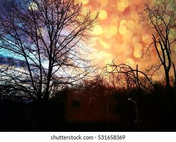 magic autumn in the sky