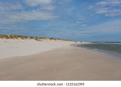 The magic beach, Sandhammaren, Skane Sweden, with the ranking as number five of the Swedish´s beaches