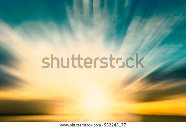 Magic blur bokeh nature morning sunshine on summer sky background concept - peaceful event christian religion, love holy spirit faith, people hope in easter, scenery of ramadan peace sunset technology