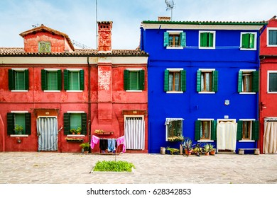 Magic and colourful Burano Island in Venice Italy