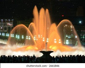 Magic fountains in Barcelona
