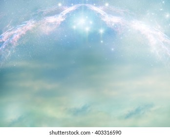 magic green background with stars