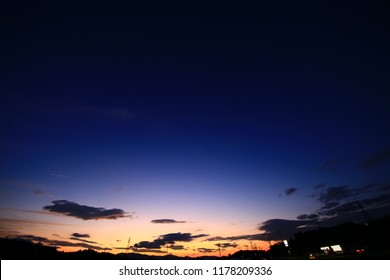 Magic Hour Sky - Indigo, Orange and White-