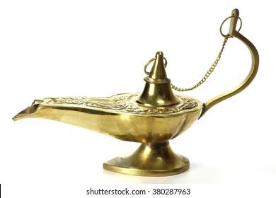magic lamp isolated on white background