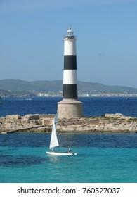 Magic Lighthouse at Formentera, Ibiza at Baleric Islands