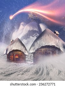 Magic mountain country, the home of Father Frost, Santa Claus, Joulupukki, and other legendary heroes of the winter holidays. A cozy little house in  wild mountains and forests store a lot of magical