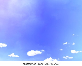 the magic sky with fluffy light cloud