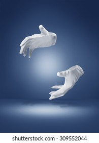 magic trick illusion hands - Stock image