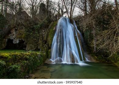 Magic waterfall in France Caylus