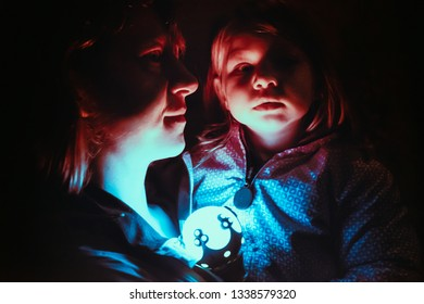 the magic world of a little girl with her mother