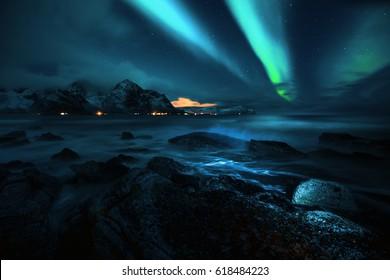 Magische Aurora Borealis, Nordlichter