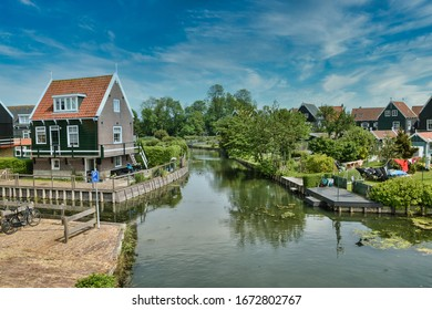 Magical Dutch village near Amsterdam visited in spring by bicycle from Amsterdam