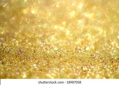 magical golden glitter sparkles  background