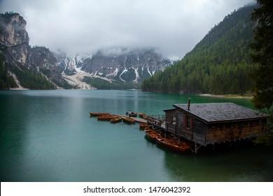 The magical lake in the Italian alps.