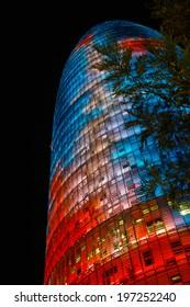 Magical light tower, Barcelona