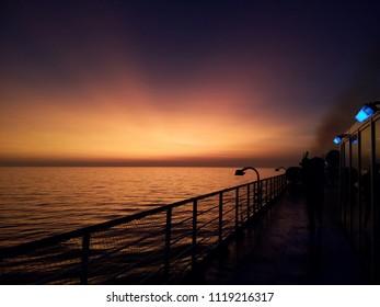 Magical Sky above Meditteranean Sea
