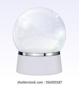 Magical snowball. Christmas gift. Raster version. Illustration