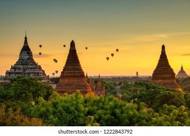 Magical Sunrise of Old Bagan, Myanmar