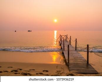 Magical sunset on Long Beach, Phu Quoc, Vietnam
