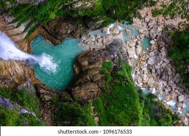 Magical waterfall in Bavaria