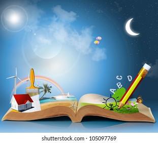 magical world of reading: magic book