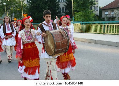 Maglaj, Bosnia and Herzegovina - August, 29. 2010. - Walk through the streets of the city in traditional costumes