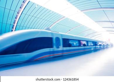 Maglev Train Station in Shanghai