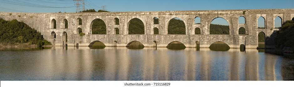 The Maglova Aqueduct built by Master Ottoman Architect Sinan Istanbul Turkey