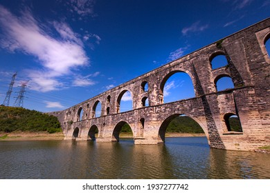 Maglova Aqueduct or Muallakkemer was built by Mimar Sinan between 1554 and 1562 on the Alibey Creek valley in Istanbul.