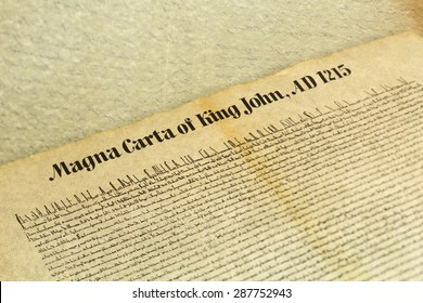 Magna Carta Libertatum, is an eight-hundred year-old English legal charter that required King John of England to proclaim certain rights and accept that his will could be bound by the law.