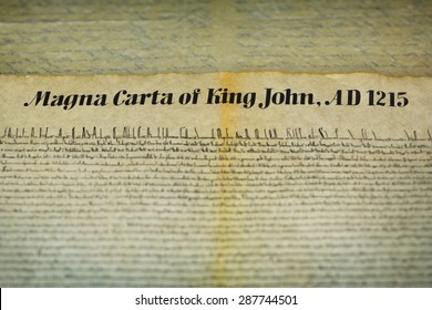 Magna Carta Libertatum is an English legal charter that required King John of England to proclaim certain rights, respect certain legal procedures, and accept that his will could be bound by the law.