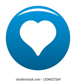 Magnanimous heart icon. Simple illustration of magnanimous heart icon for any design blue