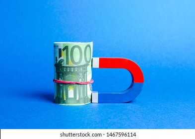 The magnet is magnetized to Euro bundle. Attracting money and investments for business purposes and startups. Increase profits and attract new customers. Salary, bonus, cashback. Business strategy.