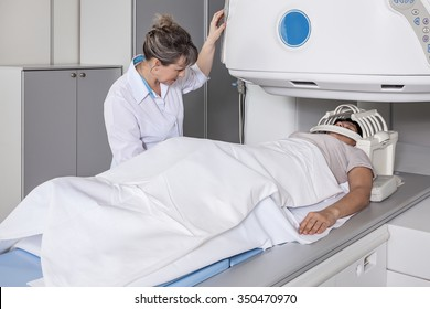 Magnetic resonance imaging of the patient.