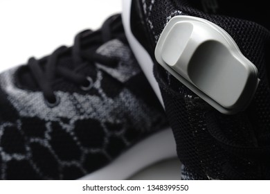 Magnetic shoe tag. Security technology. Chipping shoes. Trade technology.