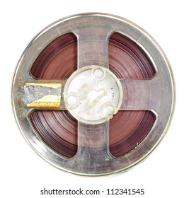 Magnetic tape on white background.