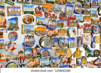 Magnets in a Shop, Vienna City, Austria
