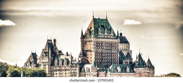 Magnificence of Hotel Chateau de Frontenac, Quebec Castle.