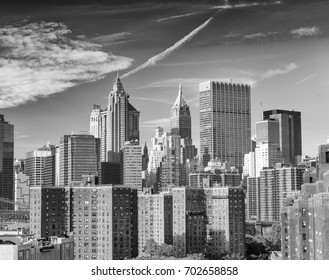 Magnificence of New York Buildings in black and white.