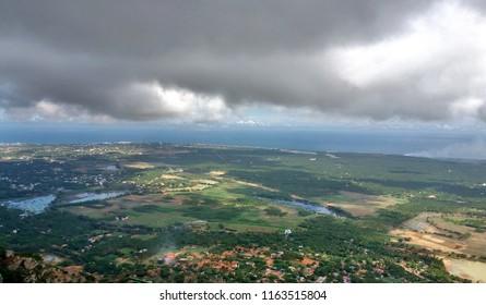"""Magnificent aerial view of Kanyakumari town - Tamil nadu"""