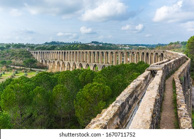 Magnificent architecture in Tomar - Aqueduct of Pegoes is a remarkable architecture in Tomar, Portugal. It was built to bring water to The Convent of Christ.