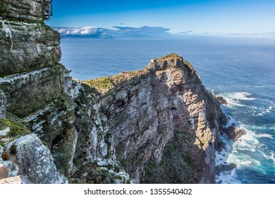 The magnificent Cape Point peninsula and ocean in South Africa