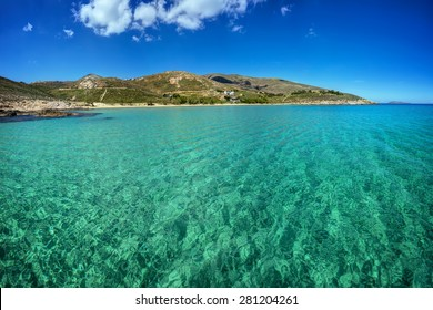 Magnificent clear transparent waters in Psili Ammos, Serifos island Cyclades Greece. Swimmers�¢?? paradise.
