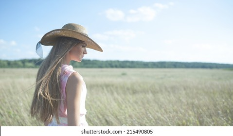 magnificent close-up outdoors Portrait of beautiful young woman