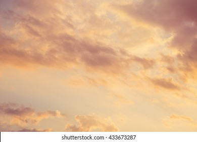 Magnificent cloudy sunset sky background