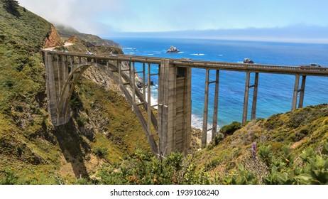 the magnificent coastal bridge on the highway