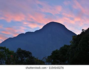 """""""Magnificent Dawn view at Agasthyamal Peak, Kerala"""" - Second highest peak in Kerala."""