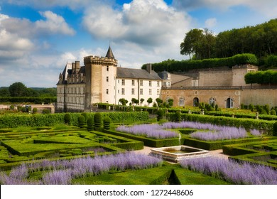 The Magnificent Gardens and Castle of Villandry, Loire, France
