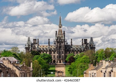 The magnificent historic school building of Fettes College (where Tony Blair was educated). Edinburgh, Scotland, UK