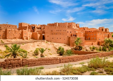 Magnificent kasbah â?? old traditional arab fortress In the city of Ouarzazate